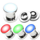 0G 00G Surgical Steel LED Light Screw Ear Tunnel Plugs Gauge Stretcher Piercing