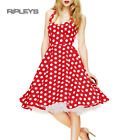 HELL BUNNY Polka Dot 50s Dress MARIAM Pin Up Prom Red White All Sizes