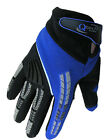 CHILDRENS Motocross MX GLOVES Kids BLUE Yamaha Trials motorcross by Qtech