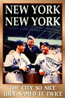 NEW YORK Yankees Retro Baseball Poster LaGuardia DiMaggio Gherig Art Print 146 on Ebay