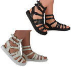 Womens Ladies Rubber Sole Open-Toe Buckle Strap Low Heel Shoe Sandal Casual Size