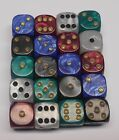 20 Six Sided Pearl Spot Dice 16MM RPG D6 NEW