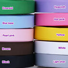 """5/50/100YDS of Solid Pure Grosgrain Ribbon - 25mm (1"""") width..Various Colours"""