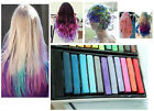 12 / 24 / 36 Colours Temporary Hair Chalk Dye Soft Pastels Non-toxic Salon New