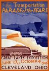 TR39 Vintage 1930's American Great Lakes Cleveland Ohio Travel Poster A2/A3/A4