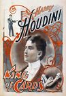 M53 Vintage Harry Houdini King Of Cards Magic Show Poster Re-Print A1/A2/A3/A4