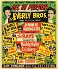 AD65 Vintage 1950's Everly Brothers Buddy Holly Concert Poster Re-Print A3/A4