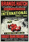AD72 Vintage 1960's Brands Hatch Silver City F1 Poster Re-Print A3/A4