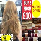 Synthetic One Piece Half full Head Clip In Hair Extensions 24 inch like human