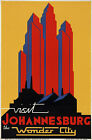TX121 Vintage Visit Johannesburg South Africa Travel Poster Re-Print A1/A2/A3/A4