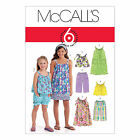 McCall's 5797 Sewing Pattern to MAKE Girls Summer Tops Dress Shorts Trousers