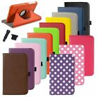 """Rotating Leather Case Cover Stand For Samsung Galaxy Tab 3 7.0"""" 7"""" Tablet P3200"""