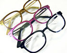 MARIUS Hornrim Hipster Reading Glasses Optical Frame Black Magenta Purple Copper