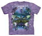Dragonfly Dreamcatcher Adult Large T Shirt Fantasy World Purple by The Mountain