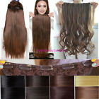 24'' 26'' 3/4 Full head clip in Synthetic hair extensions made hair top AAA78+