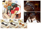 Cute Women's Hair Accessory Bow Polka Rabbit Ear Dot Hair Headband JW180 New