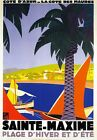 TW33 Vintage Cote D'Azur Sainte-Maxime French France Travel Poster A2/A3/A4