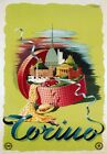 TV09 Vintage 1940's Italian Italy Torino Travel Poster Re-Print A1/A2/A3/A4
