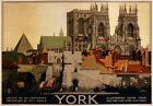 TX54 Vintage 1920's York Yorkshire LNER Railway Travel Poster A1/A2/A3/A4