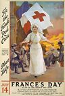 WA25 Vintage WWI French Red Cross Fund Raising War Poster WW1 A1/A2/A3/A4