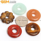20mm Circle Donuts Ring Gemstone Hole 5mm Jewelry Making Pendant Bead 1 Piece