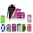For Samsung Galaxy W i8150 Wonder New Printed PU Leather Flip Case Cover +Stylus