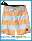 "Quiksilver Brigg Scallop 20"" Boardshorts - Light Blue/Orange"