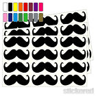 36 X 60MM SELF ADHESIVE VINYL MOUSTACHES PEEL & STICK STICKERS CRAFTS CRAFTING