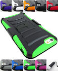 FOR APPLE IPHONE 5 5S 6 6S PLUS RUGGED ARMORED CASE COVER+HOLSTER+STYLUS/PEN