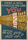 WA105 Vintage WW1 British Theres a Place For You Fill It War Poster A1/A2/A3/A4