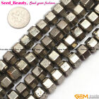 """10x18mm rondelle silver gray pyrite gemstone jewelry making loose beads 15"""""""