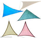 2Pcs Outsunny Triangle Sun Sail Shade Top Cover Canopy Backyard Patio Pool