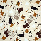 "COTTON UPHOLSTERY COVERING TABLE TOP FABRIC COFFEE CAFE INTERIOR 11 VARIES 44""W"
