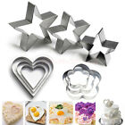 3PCS Cake Stainless Fondant Cutter Biscuit Cookies Pastry Baking Mold Sugarcraft