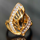 C9B113 Sparkly Noble Jewelry 18k Yellow Gold Filled GF Rhinestone Lady Ring