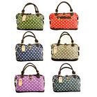 X1262 Ladies Designer Oilcloth Polka Dots Shoulder Handbag Tote Shopping Bag