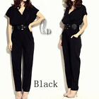 Sexy Womens Silky Overall Jumpsuit Hippie Baggy Harem Pants AU SELLER p021