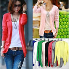 New Korean fashion ladies' knitted cardigan cotton candy-colored shawl sleeved