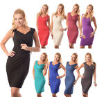 New Sexy V-Neck Cocktail Party Evening Bodycon Dress Top Size 8 10 12 14 3000