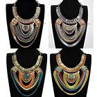 Hot Sell Fashion Tribal Ethnic Chain Chunky Collar Choker Statement Bib Necklace