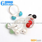 10mm double round beads tibetan silver ring fashion jewelry ,7 materials select
