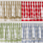 FANTASTIC CHAMONIX GINGHAM CHECK KITCHEN PELMETS AVAILABLE IN FOUR COLOURS