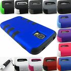 FOR SAMSUNG GALAXY S V 5 S5 ARMOR DUAL LAYER HYBRID PHONE CASE COVER+STYLUS/PEN