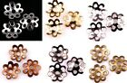 500 Pcs Silver/Gold/Nickel/Tone Metal Flower Shaped Bead Caps End Caps 6mm