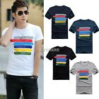 Brand new Summer Simple stripe pattern man't T-shirt make of cotton Black White