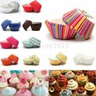 50Pcs CupCake Muffin Paper Cups Liners Cases Different Baking Decorating Wedding