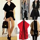Womens Magic Woolen Poncho Coat Top,worn in multiple Style AU SELLER T107