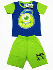 Monsters University Mike Cotton T-Shirt+Shorts #147-10 Green Size 4-8 age 2-6