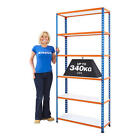 Steel Shelving Storage Racking Melamine 1980mm High 6 Levels 5 Colours BiG340