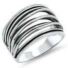Fancy Design .925 Sterling Silver Ring Sizes 6-10